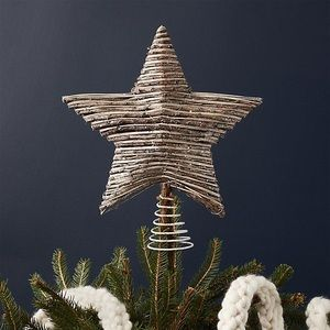 Crate & Barrel Rattan Star Tree Topper